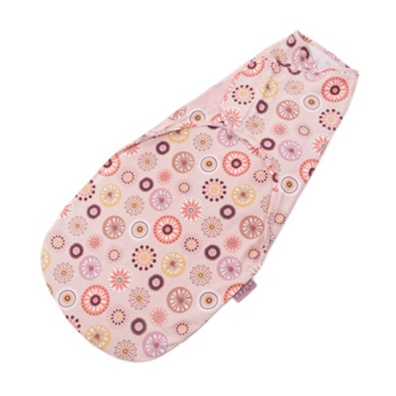Nuroo Swaddler Pinwheels Pink Bedong Bayi