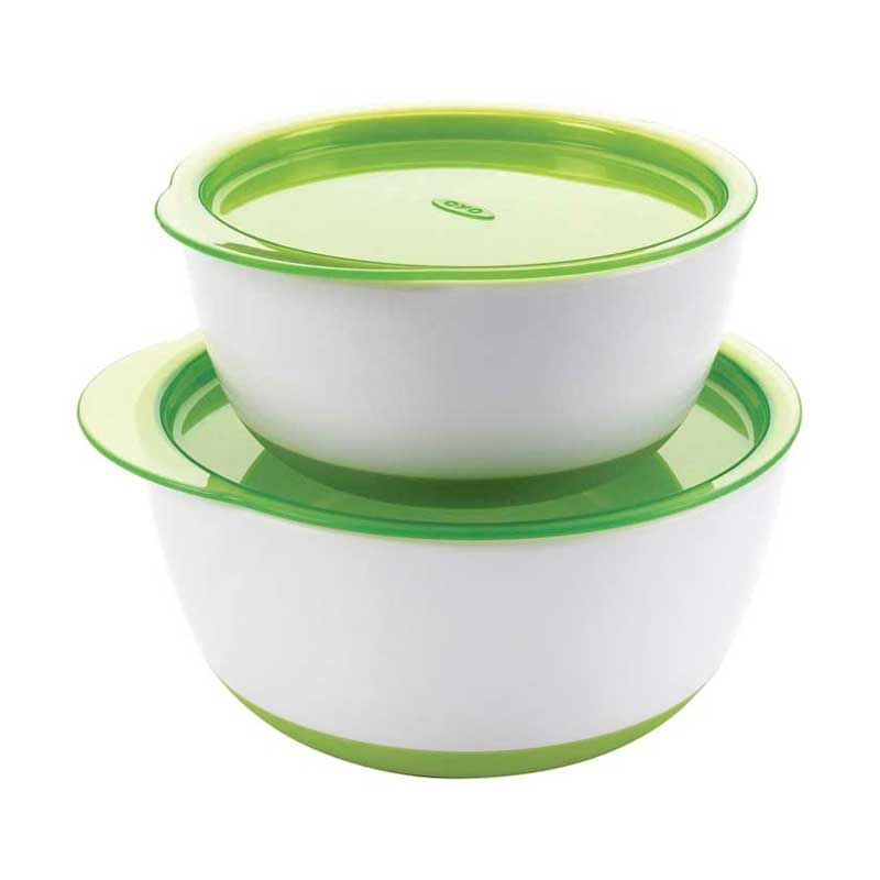 Oxo Large and Small Bowl Set Hijau Tempat Makan