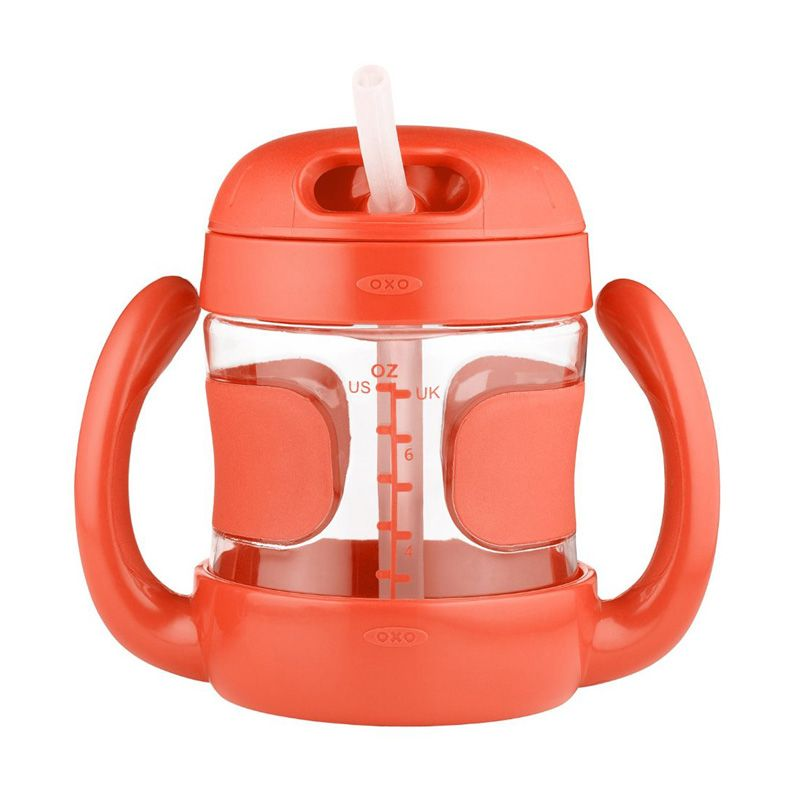 OXO Tot Straw Cup with Handles Orange Botol Minum [7oz]
