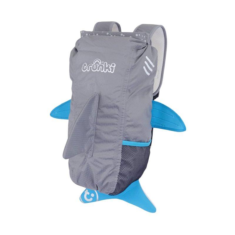 Paddlepak Jaws Shark Medium Grey Tas Sekolah Anak
