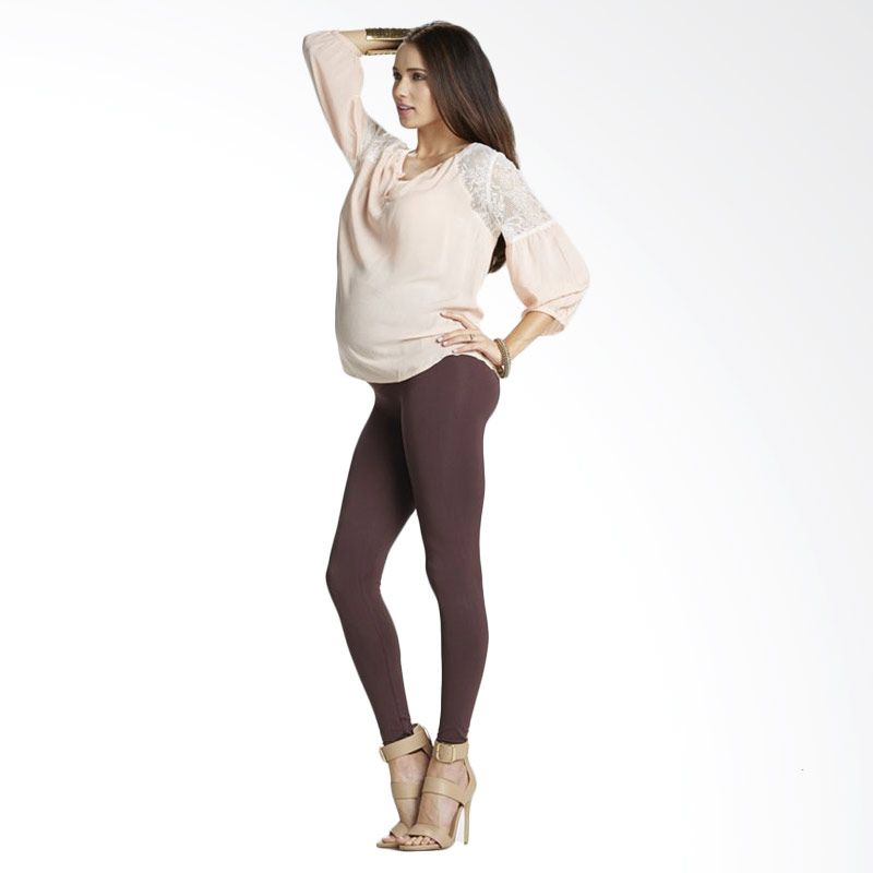 Preggo Leggings Brown Legging Ibu Hamil
