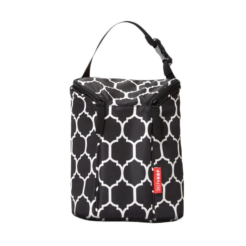 Skip Hop Grab and Go Double Onyx Tile Bottle Bag Black Tas Bayi