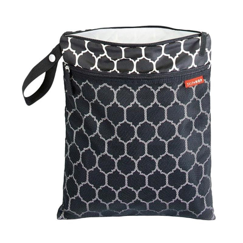 Skip Hop Grab & Go Wet Dry Bag Onyx Tile Pouch