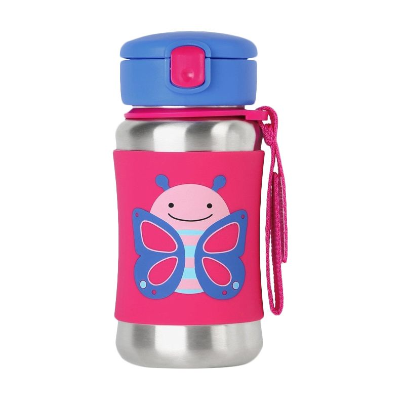 Skip Hop Stainless Steel Butterfly Straw Botol Minum