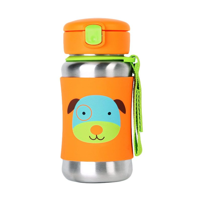 Skip Hop Stainless Steel Dog Straw Botol Minum