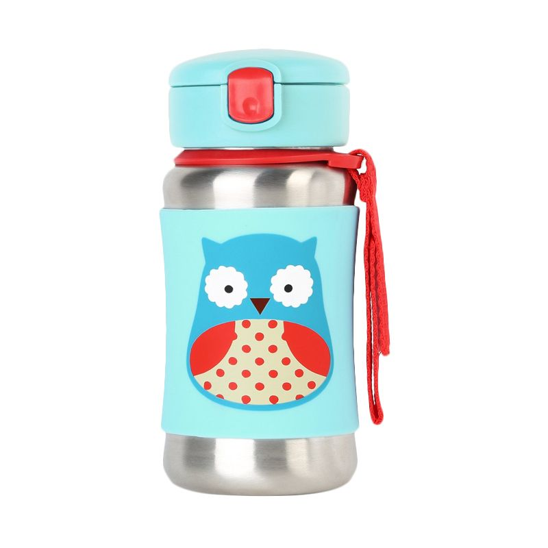 Skip Hop Stainless Steel Straw Owl Botol Minum