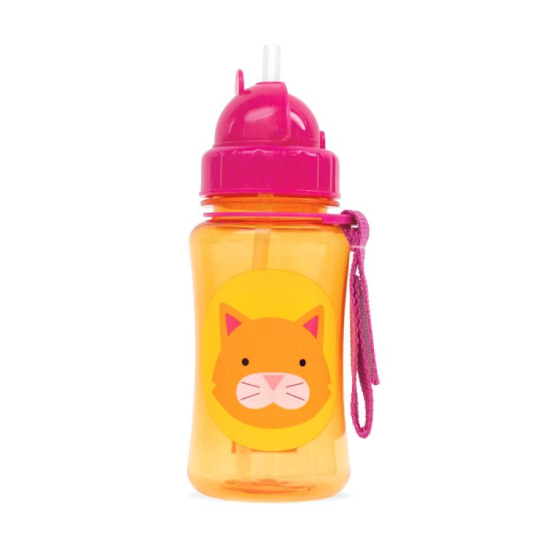 Skip Hop Zoo Straw Bottle Cat Botol Minum Anak