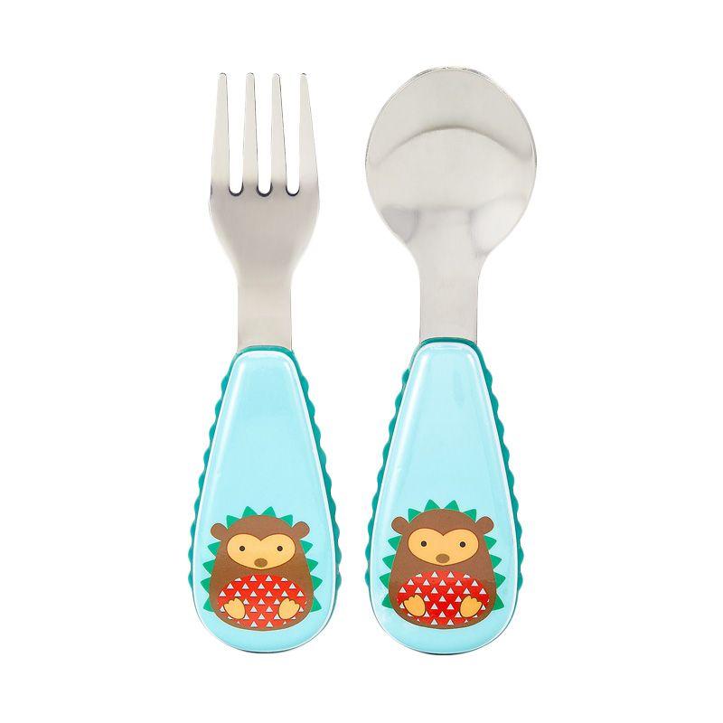Skip Hop Zootensil Hedgehog Blue Sendok Garpu Alat Makan Bayi