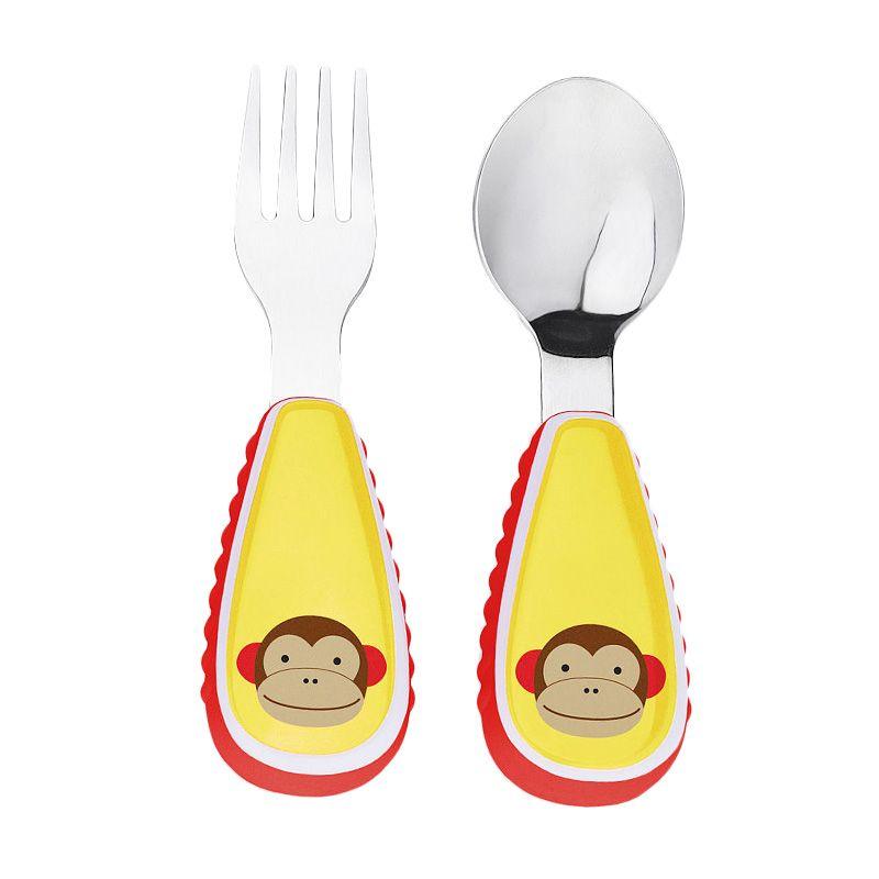Skip Hop Zootensil Monkey Yellow Sendok Garpu Alat Makan Bayi