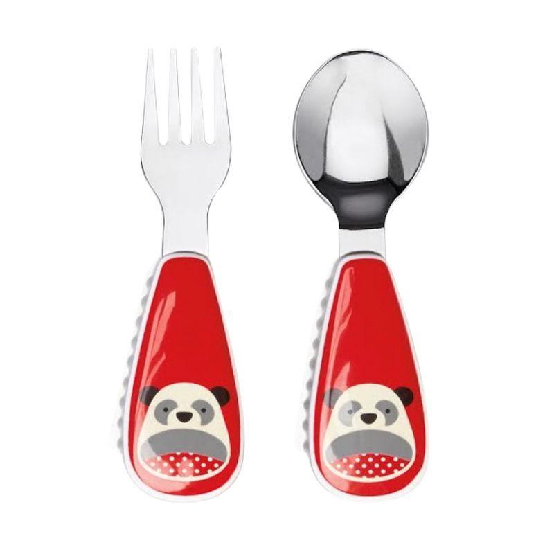 Skip Hop Zootensil Panda Red Sendok Garpu Alat Makan Bayi