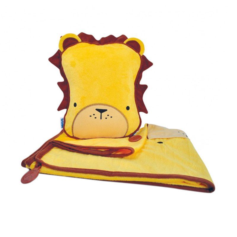 SnooziHedz Leeroy Lion Kuning Selimut Multifungsi