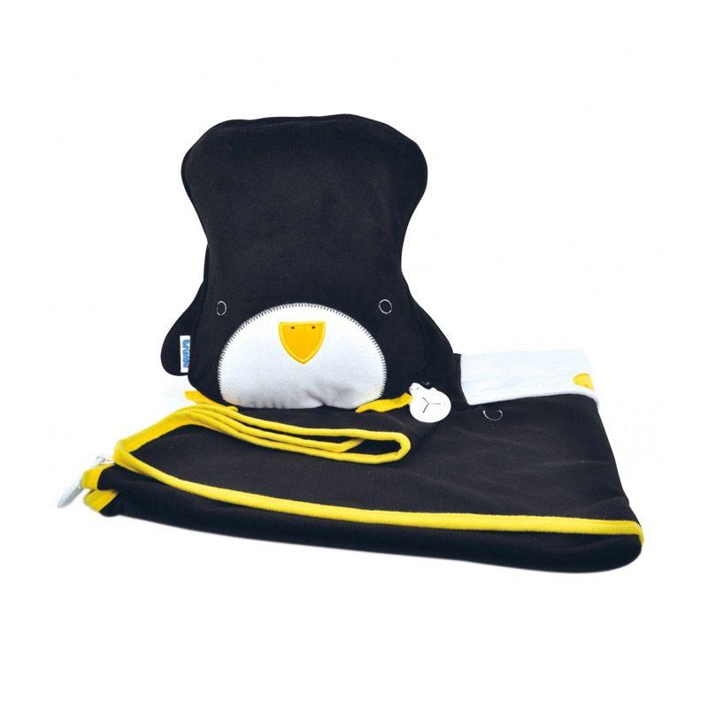 SnooziHedz Pippin Penguin Black Selimut Multifungsi