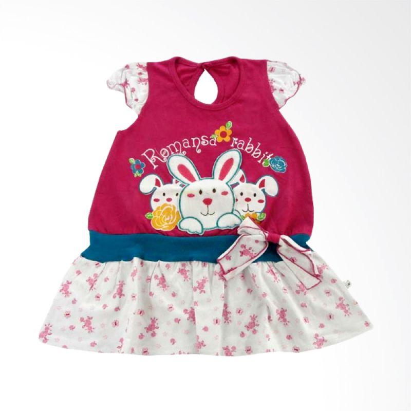 Tatami Romansa Rabbit A Line Pink Dress Anak