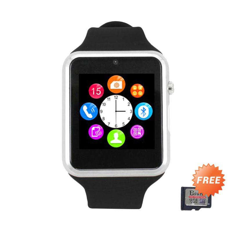 Bcare U10 Smartwatch - Hitam + Bcare MicroSD 16 GB