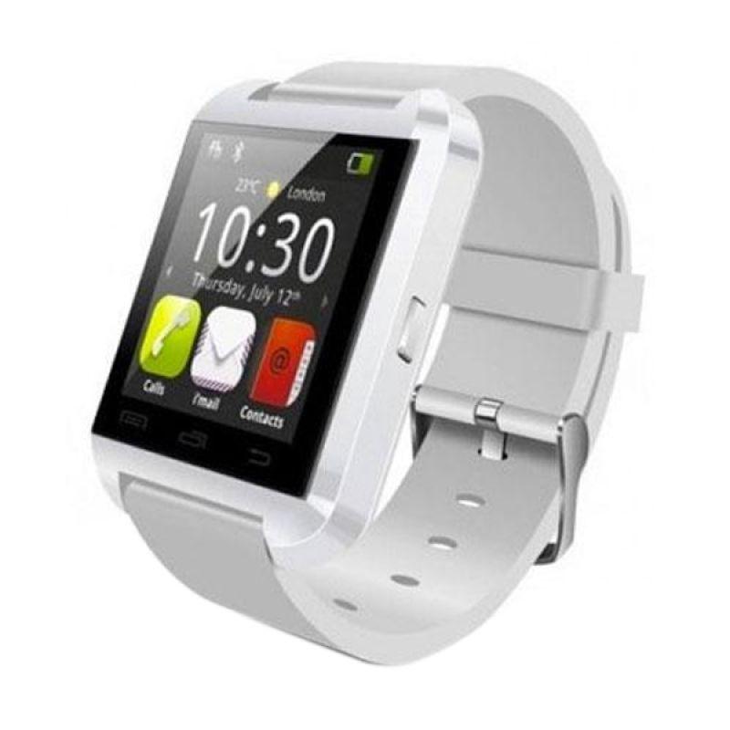 Bcare U8 Putih Smartwatch + Strap Hitam & Merah