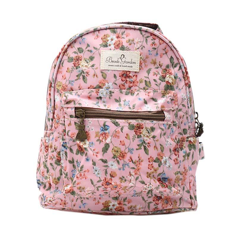 harga Beads & Gardon 268 Tas Ransel Wanita Remaja Korean Style Mini Backpack - Pink2 Blibli.com