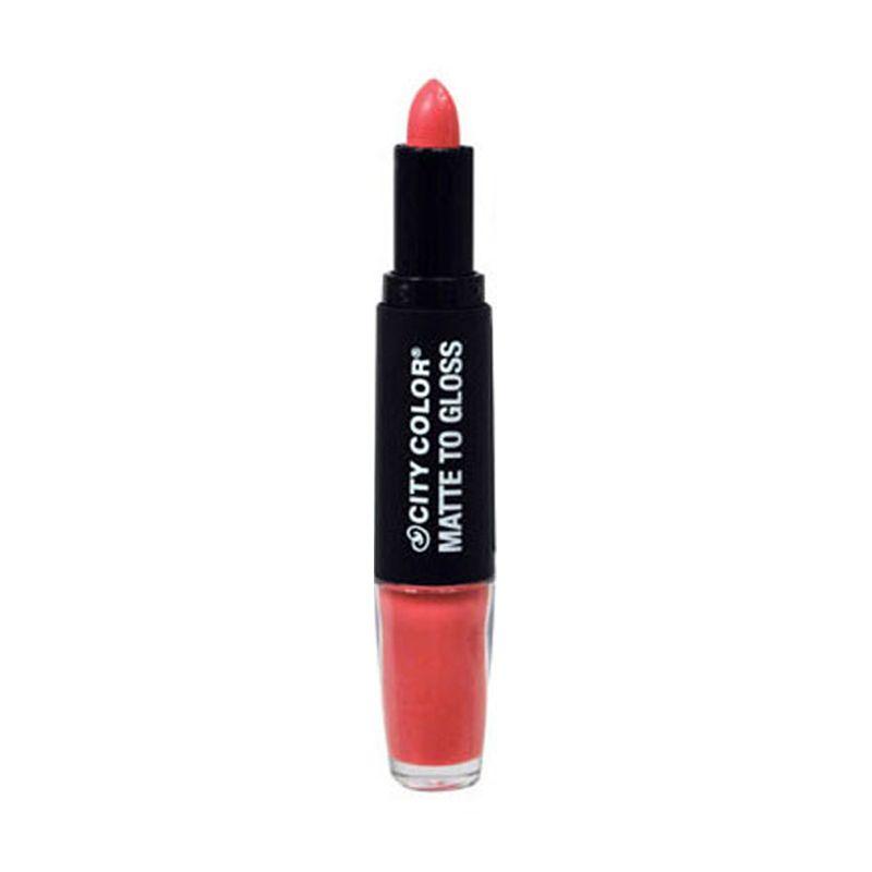 City Color Matte Gloss Flamingo Dazzle Lipstick