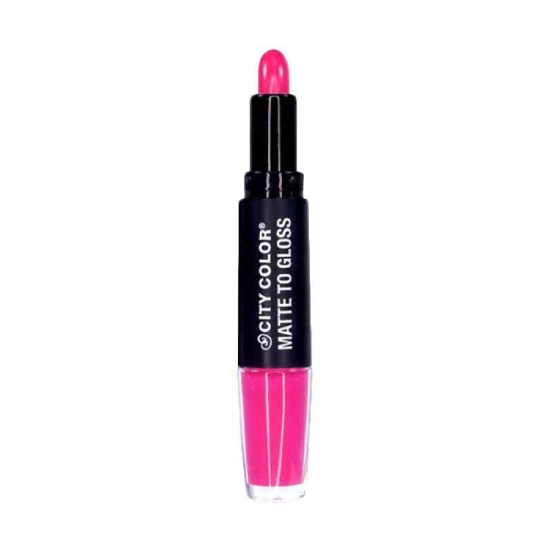 City Color Matte Hot Pink Dazzle Lipstick