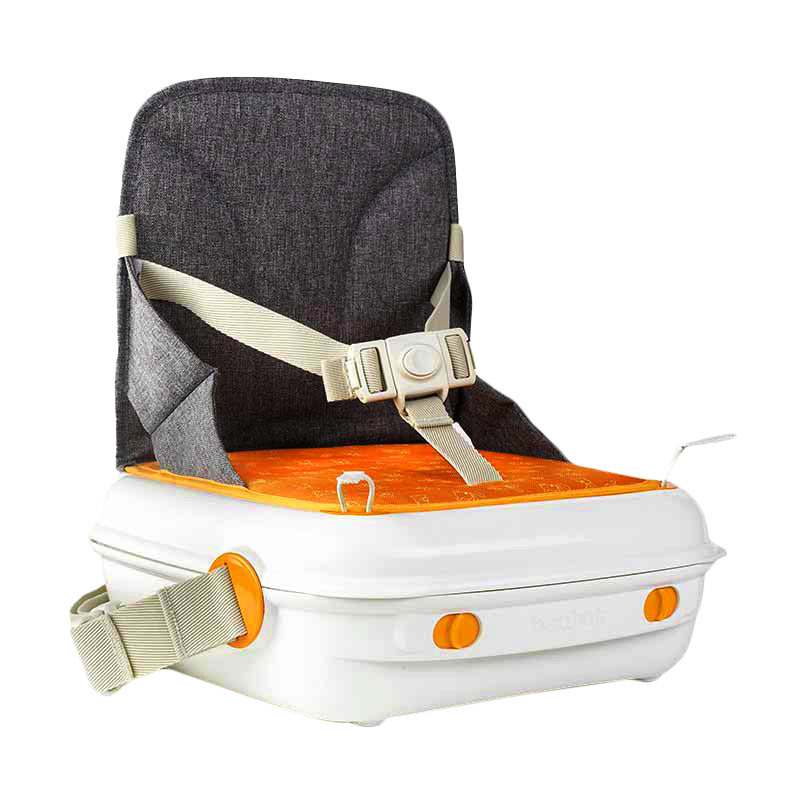 Benbat Yummigo Booster & Storage Case - Grey Orange