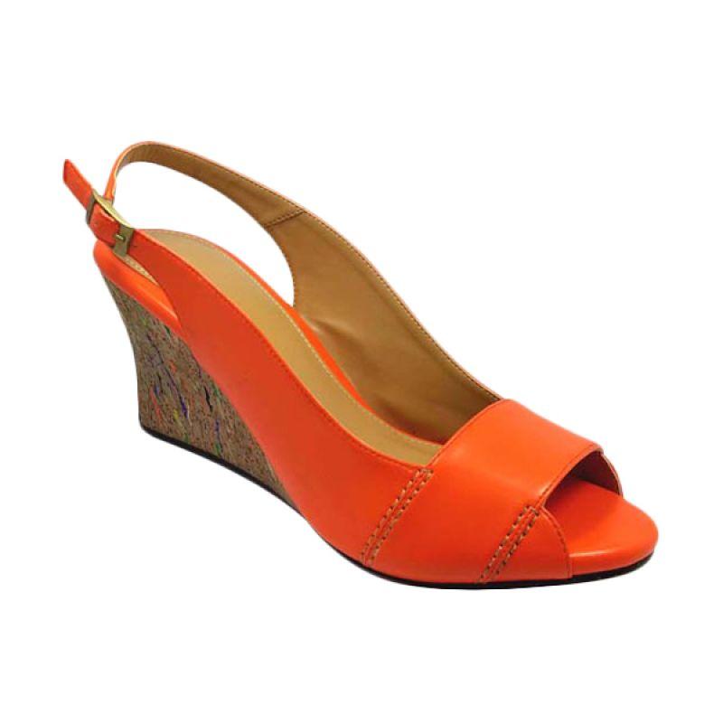 Benitz 5501 Wedge Orange Sepatu Wanita