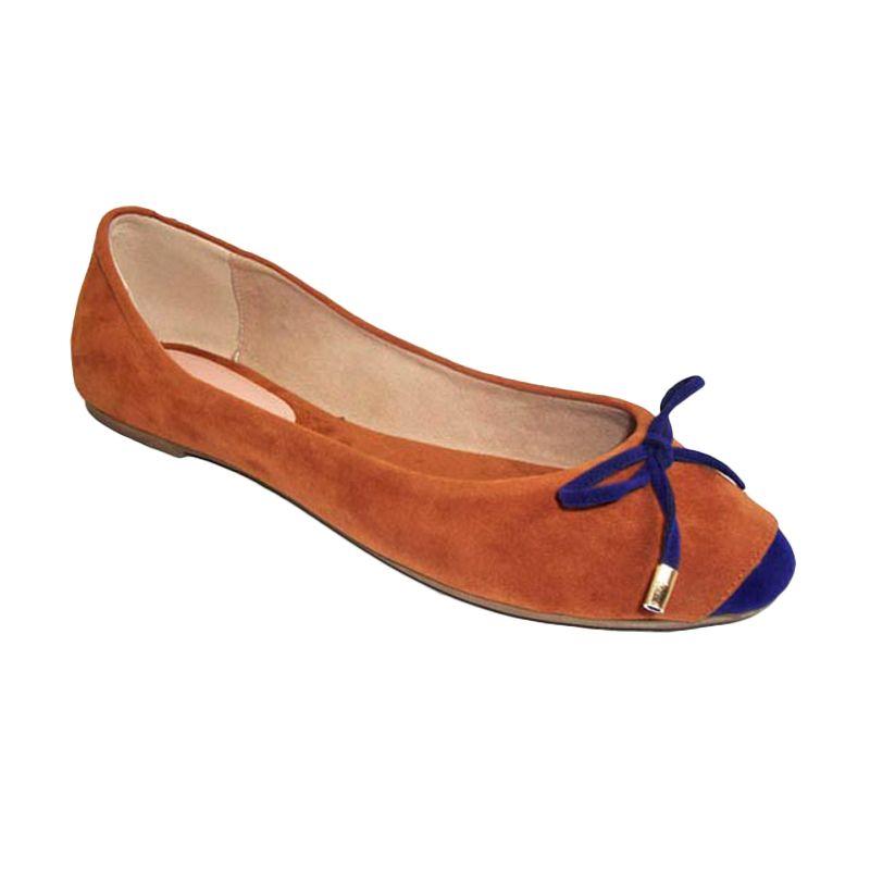 Benitz Flat 1216 Tan-Biru Sepatu Wanita