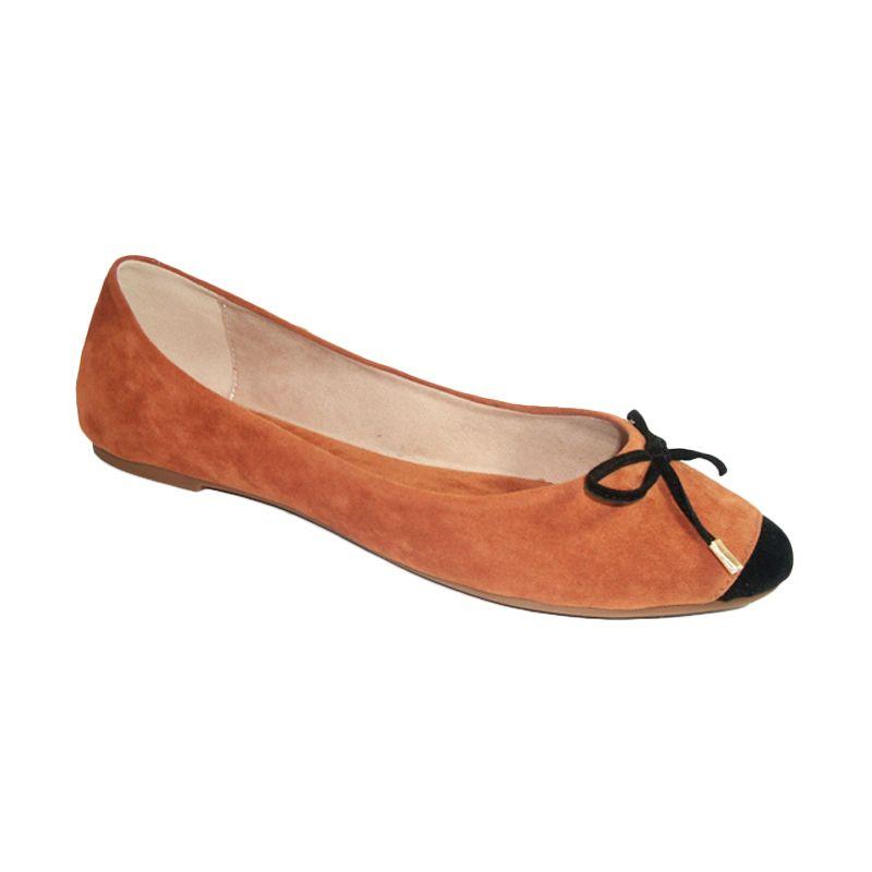 Benitz Flat 1216 Tan-Hitam Sepatu Wanita