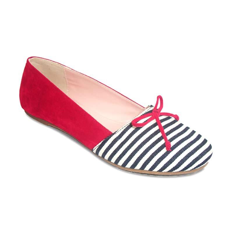 Benitz Flat 1302 Merah Sepatu Wanita