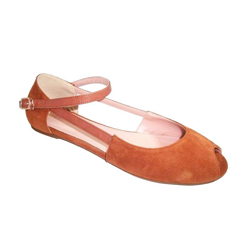 Benitz Flats 1108 Khaki Sepatu Wanita