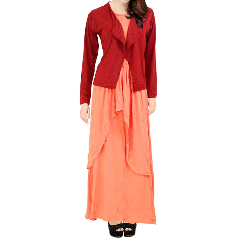 Berryblues Maxi ver 03 Maroon Dress Menyusui