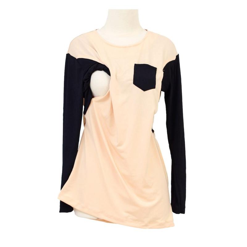Berryblues Nursing Shirt 14 Peach Baju Menyusui