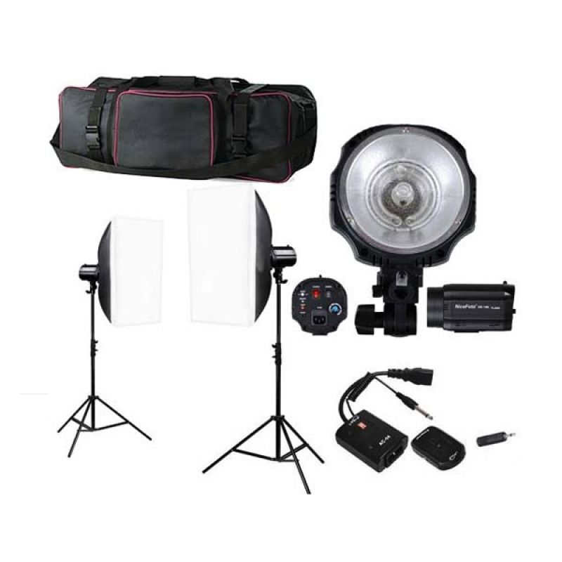 Nicefoto Mini GA-200 Kit Lampu Studio [Paket]
