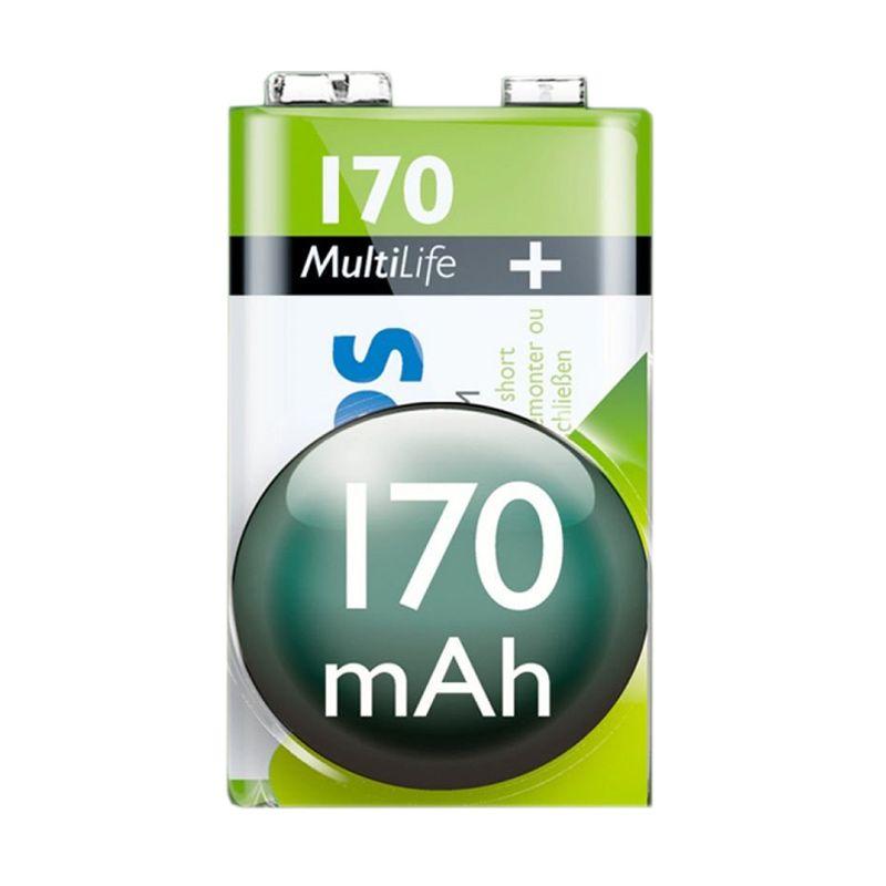 Philips Multi life Rechargeable Baterai Kamera [9 V/170 mAh]