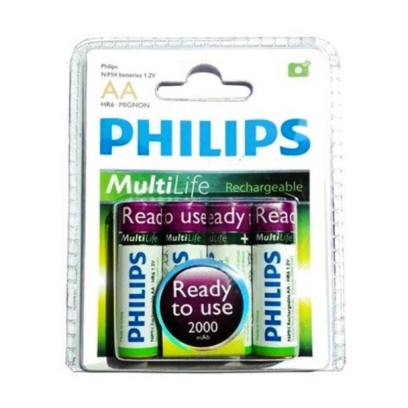 Philips BP4 Putih Baterai AA [2000 mAh]