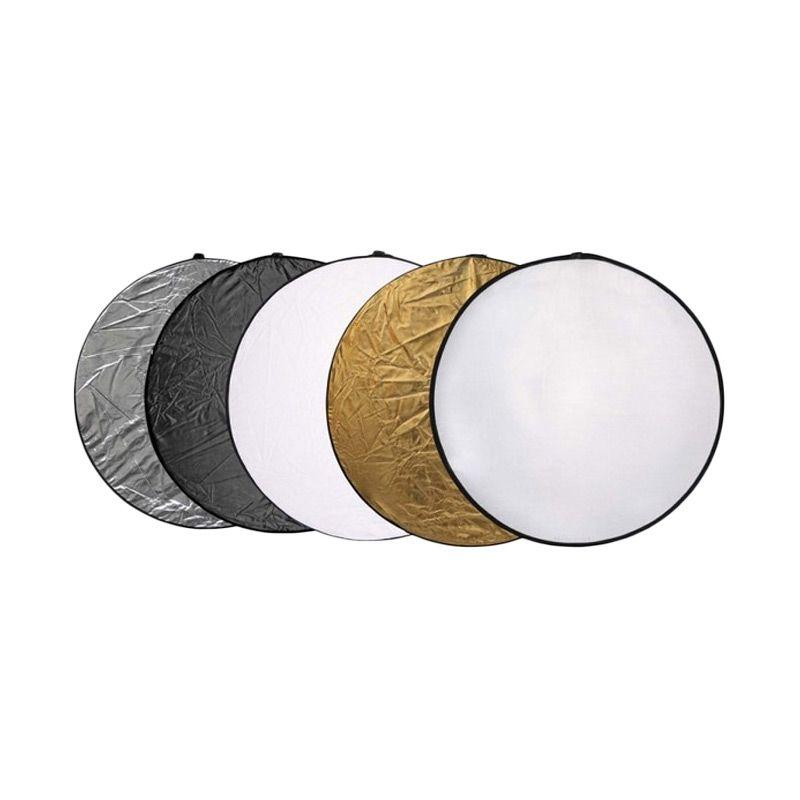 Portabel Reflektor 5 in 1 Bulat Aksesoris Kamera [110 cm]