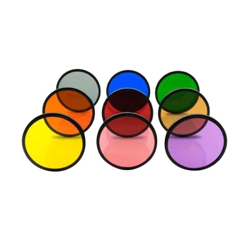 Third Party Gradual Effect Color 55mm Filter Lensa [6 Pcs]
