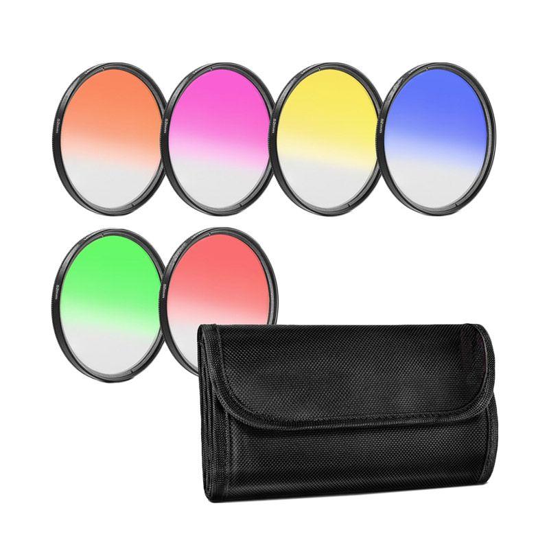 Third Party Gradual Effect Color 77mm Filter Lensa [6 Pcs]