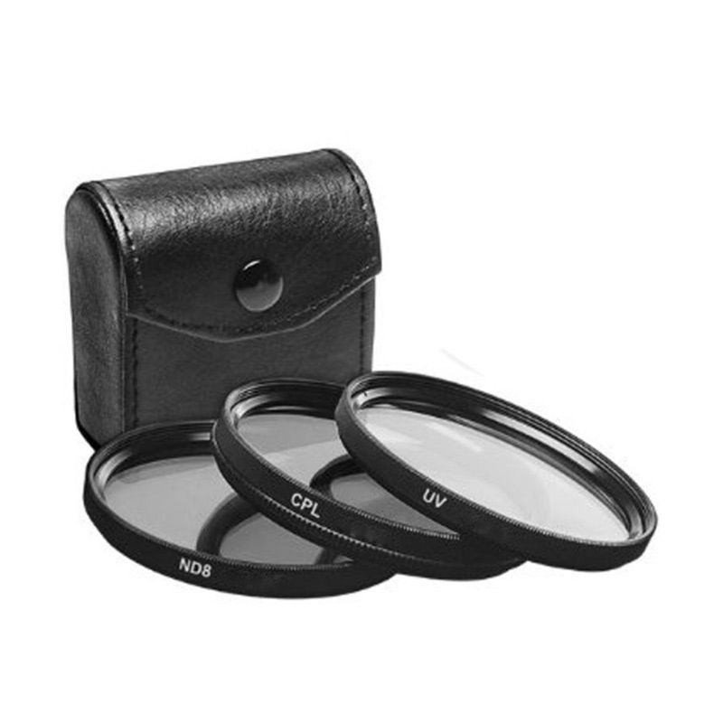 Third Party UV+CPL+ND8 58mm Filter Kit