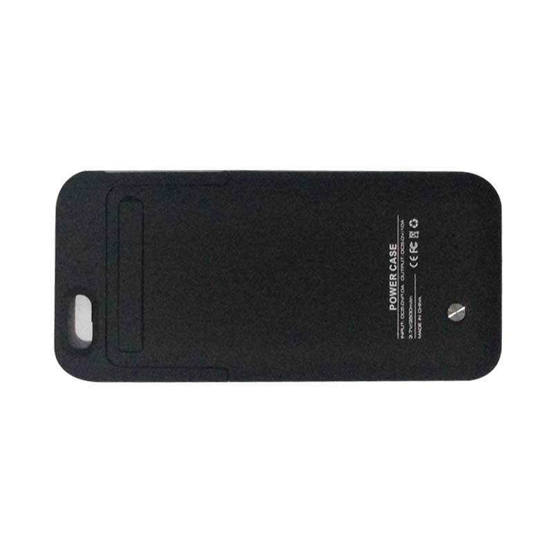 Rabu Cantik - Apple Black Casing with Battery Built in for Iphone 6 [3500 mah]