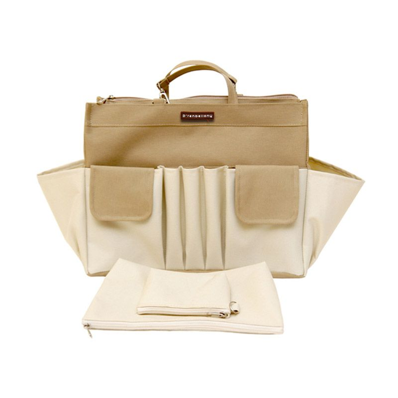 D'renbellony Bag Organizer Active GM - Khaki White | Tas Organizer | Bag in Bag | Organizer Bag
