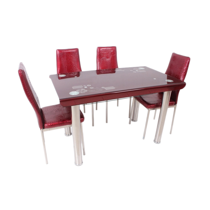 Best Furniture 4499 Dining Set Meja Makan - Merah
