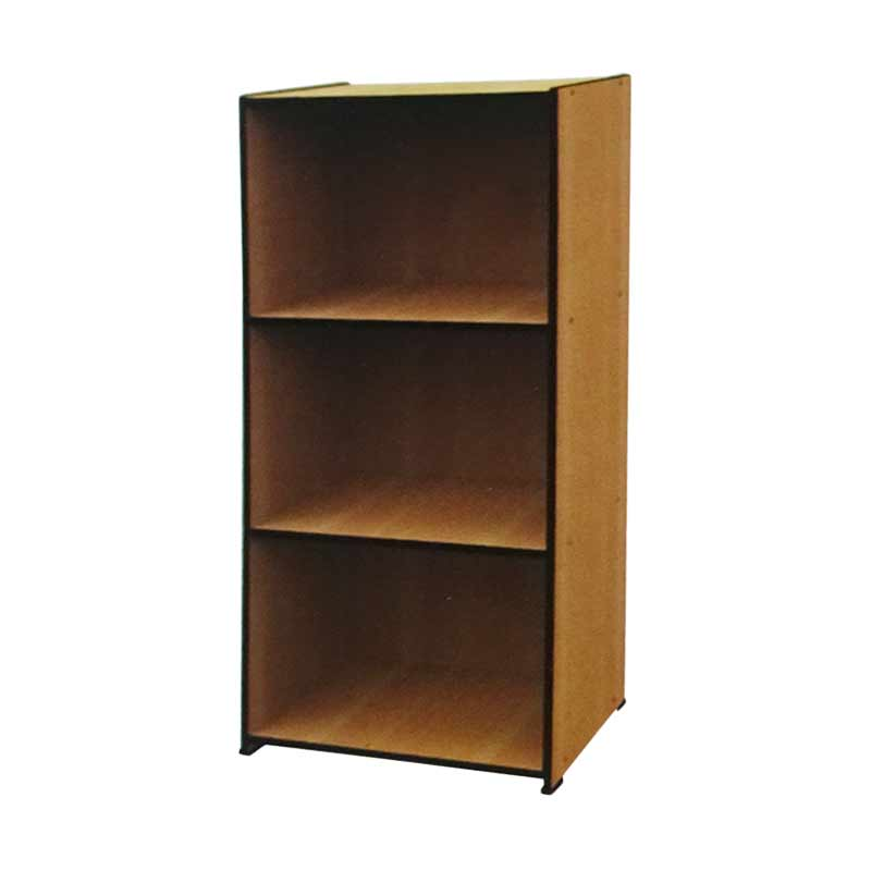 Best Furniture Rak Buku Pajangan Serbaguna 3 Tingkat - Coklat
