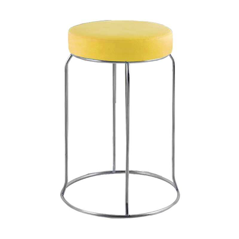 Best Furniture Sapporo Kursi Baso Besi Bulat - Kuning