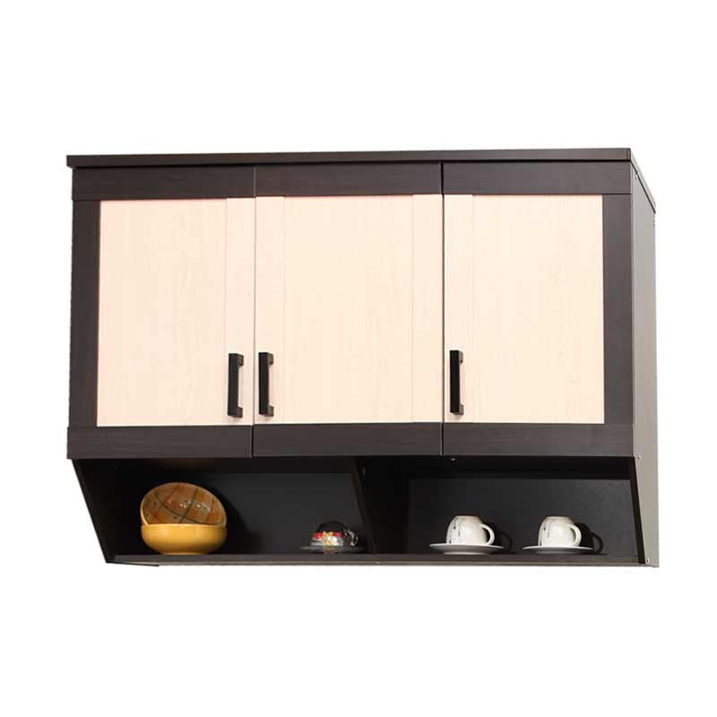 Best Furniture Toppan Urbana Series Atas Kitchen Set  - Krem [3 Pintu]
