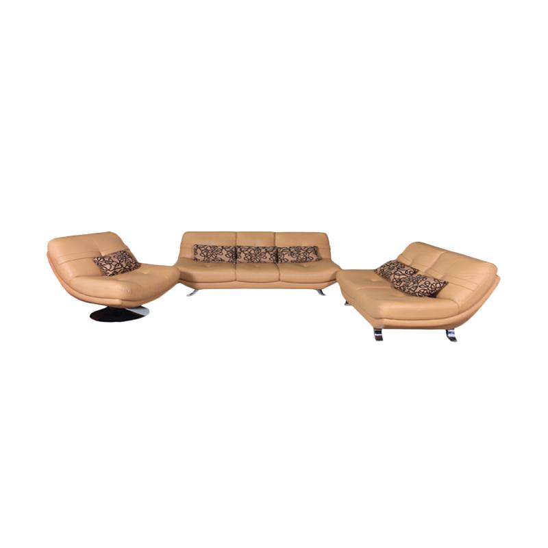Best Furniture Wellington's Mascullino 321 Mirage Brown Set Sofa