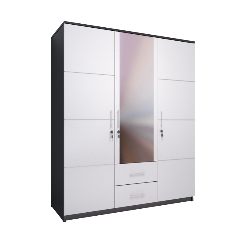 Best Furniture Whitty Lemari Pakaian [3 Pintu]
