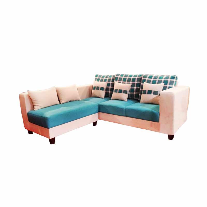 Wellington's Agatha Sofa - Biru Krem [Sudut L]