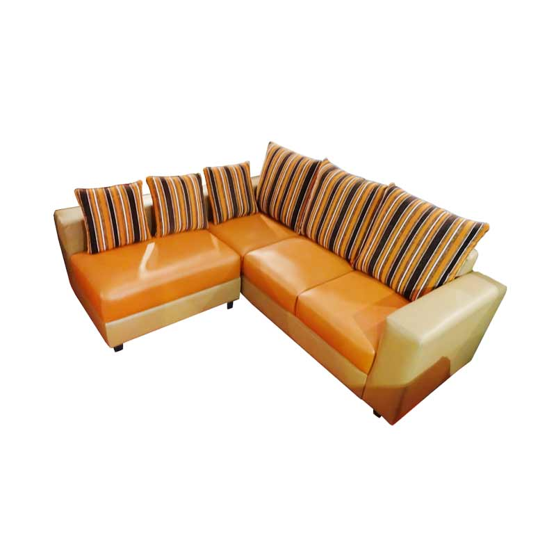 Wellington's Asania Sofa Sudut L - Orange Krem