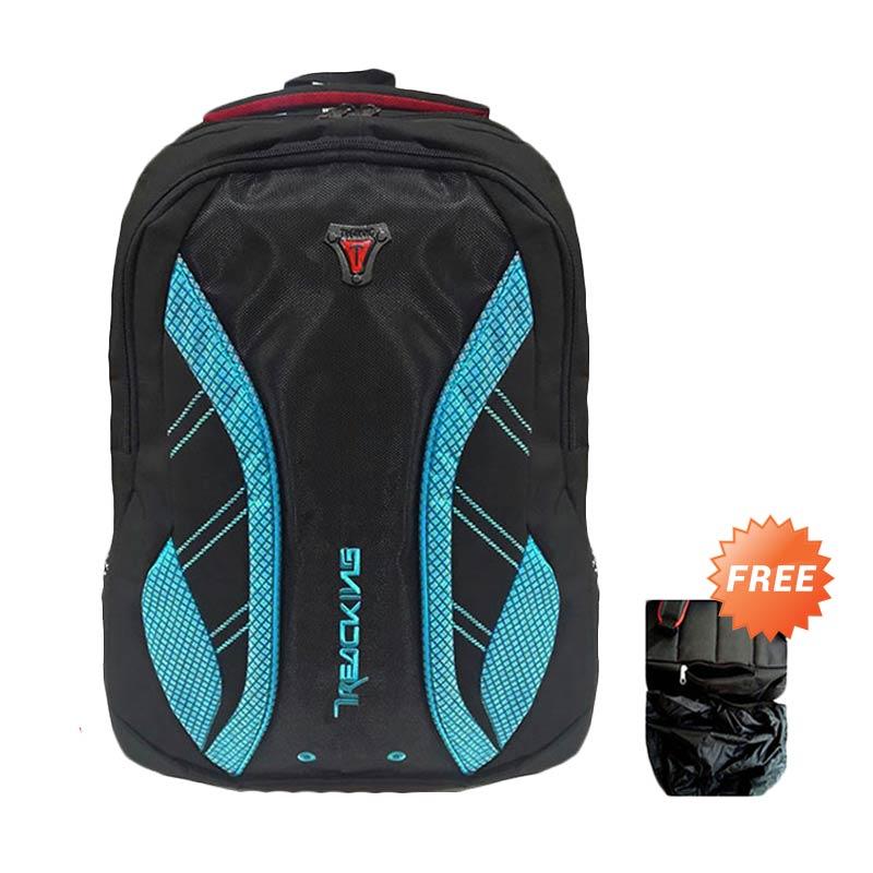 Bag & Stuff Daytona Treaking Tas Ransel Laptop + Raincover - Biru