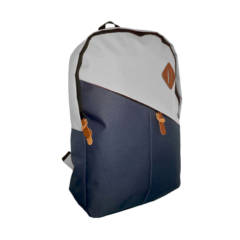 Best Bag & Stuff Mozaic Laptop Backpack - Biru Abu