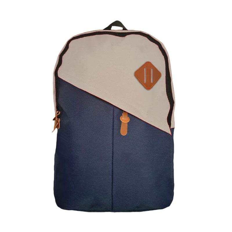 Best Bag & Stuff Mozaic Laptop Backpack - Biru Krem